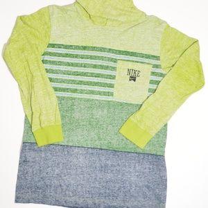 Nike Shirts & Tops - Boys Nike Hoodie Hooded Sweatshirt Green Blue